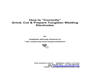 "How to ""Correctly"" Grind, Cut & Prepare Tungsten Welding Electrodes"